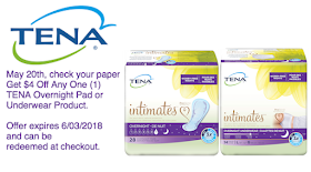 Mom Knows Best : NEW $4/1 TENA® Overnight Product Coupon!