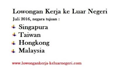 Lowongan Kerja Terbaru Tahun 2016 - Info Kontak Loker Luar Negeri 0877-8195-8889 - 081320432002 - 085724842955 - 089681867573 pin 74BAF1FB
