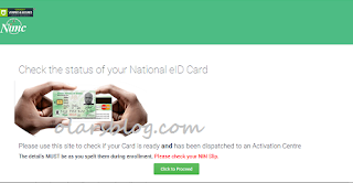 How to Check the Status of your National Identity Card Online