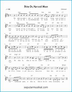chord shine on, harvest moon lagu jazz standar
