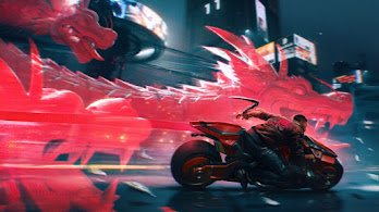 Cyberpunk 2077, V, Motorcycle, Dragon, 4K, #3.2281