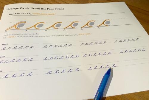 Cursive Logic writing page from The Art of Cursive Logic