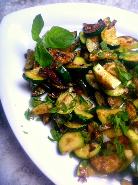 My Simple Sauteed Zucchini is simple, honest food, bursting with lemon and mint, and done in a flash! - Slice of Southern