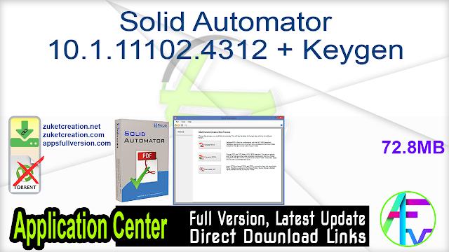 Solid Automator 10.1.11102.4312 + Keygen