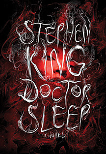 cover of Doctor Sleep by Stephen King, showing title in words made of steam