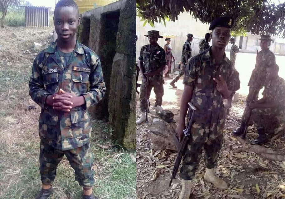 Is this the youngest Nigerian Army soldier?