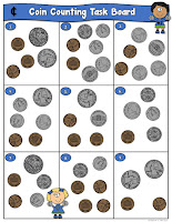 Coin Counting Task Boards