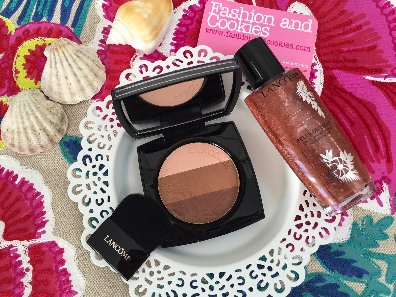 Lancôme makeup collection 2016: Summer bliss, Belle de Teint and Powder glow trio review on Fashion and Cookies fashion blog, fashion blogger