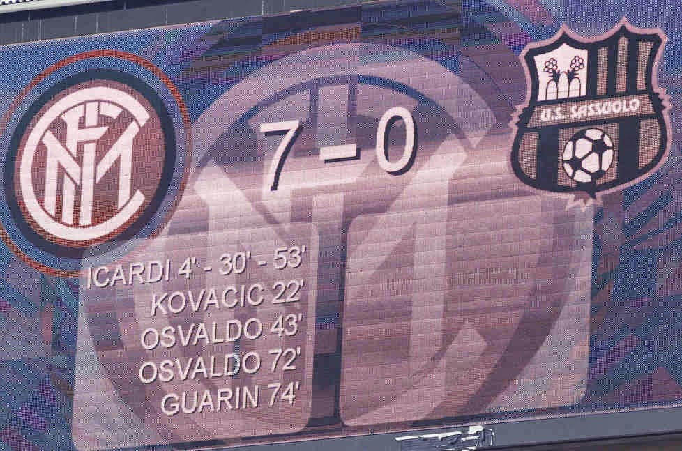 Image result for inter sassuolo 7-0