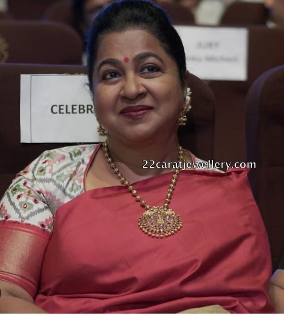 Radhika Saratkumar Gold Beads Chain