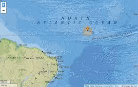 Tremor de 5.8 de magnitude é registrado no Oceano Atlântico próximo ao litoral nordestino