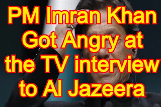 Prime Minister Imran Khan Got Angry at the TV interview to Al Jazeera, Mic Also Threw Down