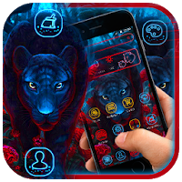 Neon Tiger Black Theme  Apk free Download for Android
