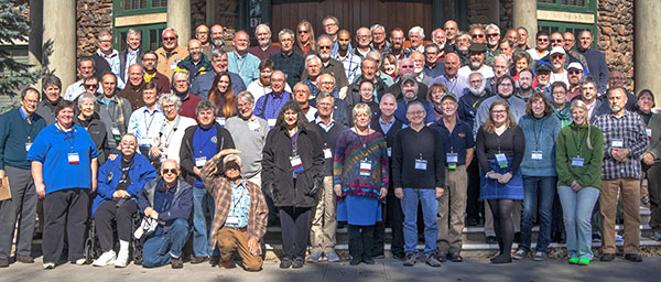 Group photo of AAVSO 2018 Flagstaff meeting attendees at Lowell Observatory (Source: AAVSO)