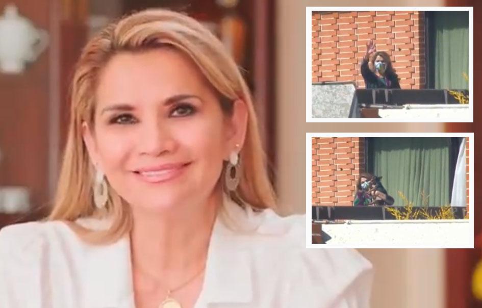 Áñez pasará trabajando dos semanas en la residencia presidencial de San Jorge / RRSS