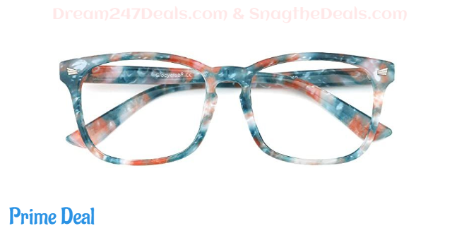 50% OFF Blue Light Blocking Glasses Vintage Nerd Square Keyhole Design Eyeglasses Frame for Women Men