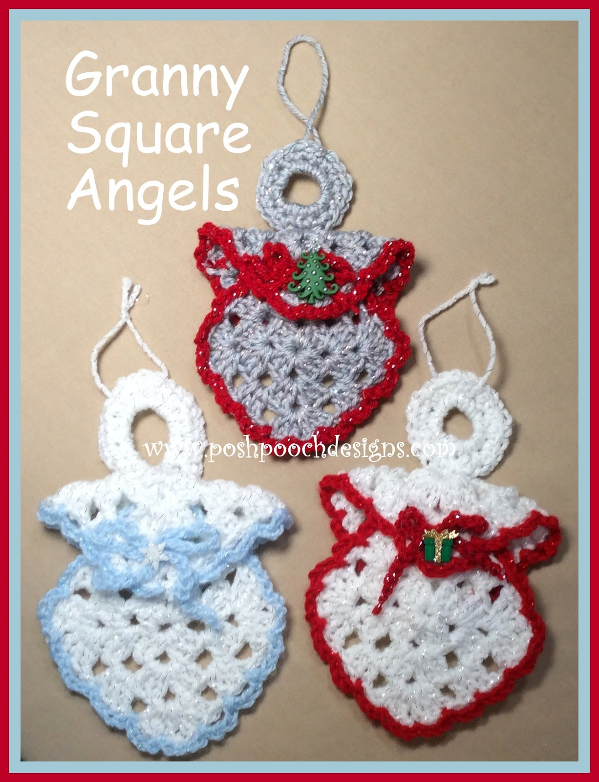 Posh pooch designs dog clothes granny square angel ornament granny square angel ornament crochet pattern bankloansurffo Images