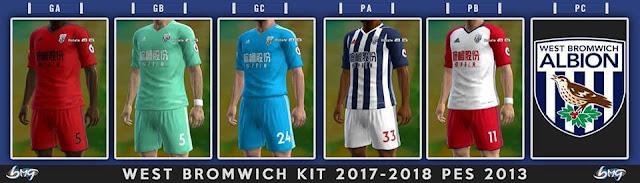 West Bromwich Albion Kit 17-18 PES 2013