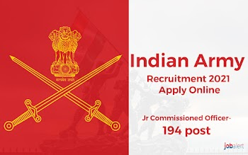 Indian Army Recruitment 2021 Apply Online (Jr Commissioned Officer-194 post)