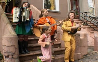 Dan Zanes and the band sing Jump Up. Sesame Street Happy Healthy Monsters