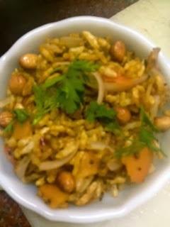Puffed rice upma / Kadle Puri Snack
