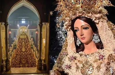 La Virgen de la Encarnación de Aznalcázar será trasladada de forma privada a la Parroquia de San Pablo