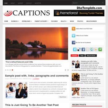 Captions blog template. magazine blogger template style. magazine style template blogspot. 3 column footer blogspot template