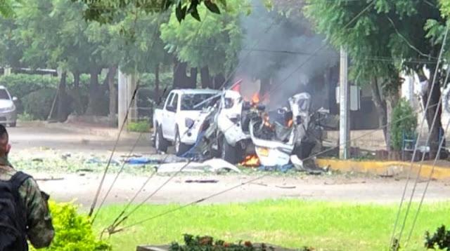 EXPLOTA CARRO BOMBA DENTRO DE BATALLÓN DEL EJÉRCITO EN CÚCUTA