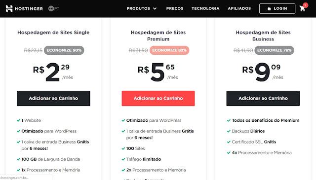 Hospedagem barata para Wordpress