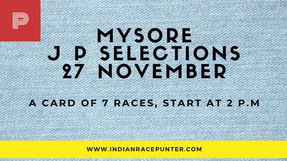 Mysore Jackpot Selections 27 November