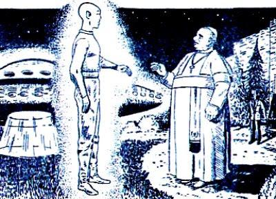 Papa João XXIII conversa com extraterreste