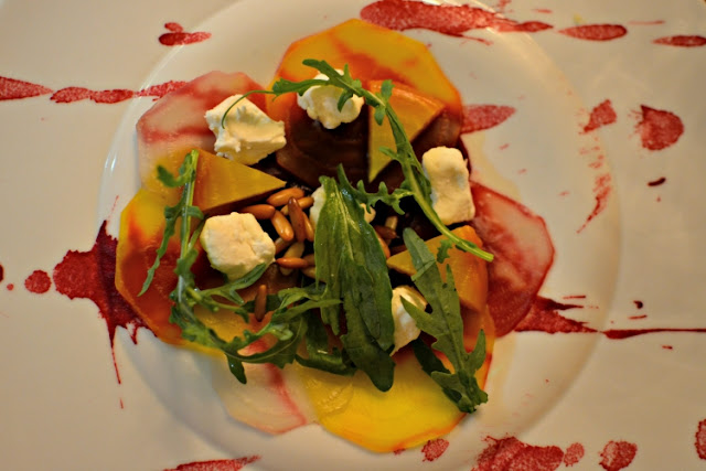 Salt baked beetroot salad at Crocker's Folly London
