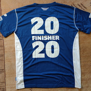 Back Of Edinburgh Marathon Festival 2020 Finisher's T-Shirt