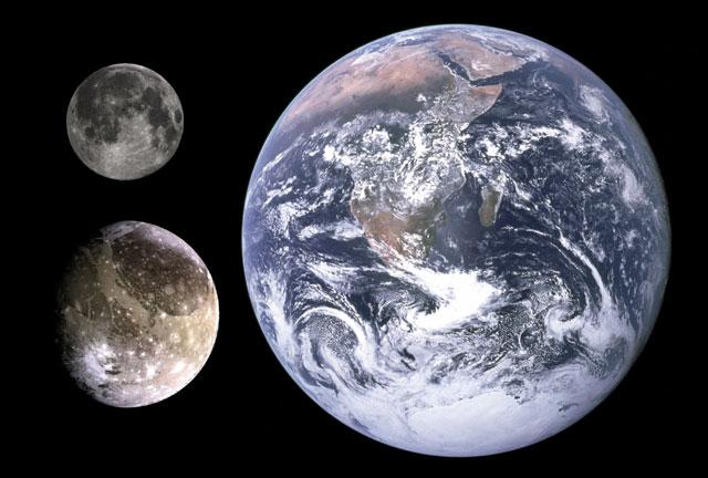 Io memiliki diamater sebesar 1.821 km