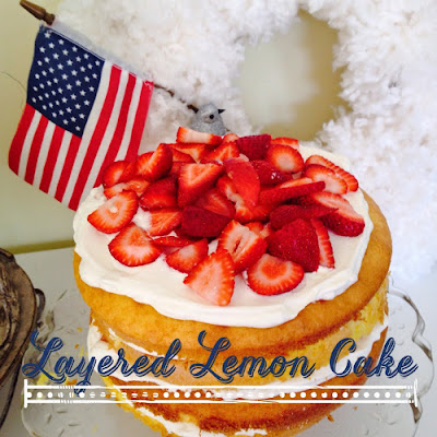 Easy layered cake with whipped cream