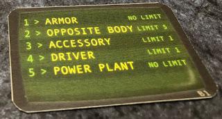 Car Wars damage card