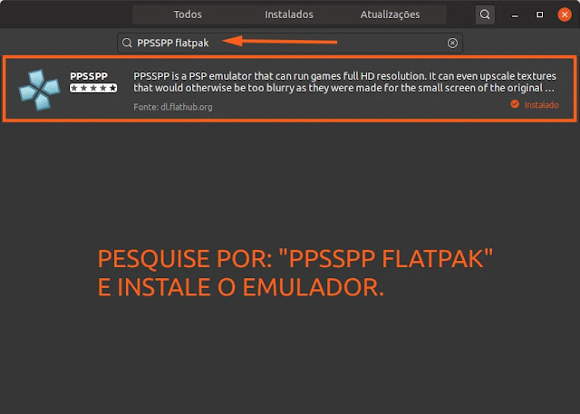 ppsspp-flatpak-flathub-ubuntu-loja-mint-fedora-linux-psp-emulador-retro-gamer