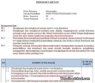 Prota Matematika Kelas 9 Kurikulum 2013 Revisi Terbaru