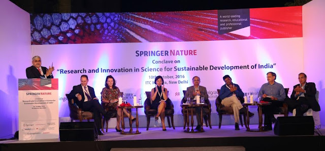 Picture 1 of Springer Nature's conclave on Research and Innovation in Science for Sustainable Development of India held in Delhi