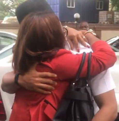 #BBNaija: Ozo and his mother passionately hug as they reunite (Video)