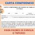 CARTA COMPROMISO PARA PADRES DE FAMILIA O TUTORES.