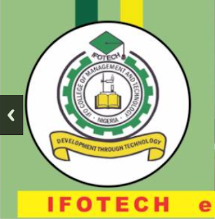 IFOTECH Part-Time Distance Learning Form 2020/2021   ND & Diploma