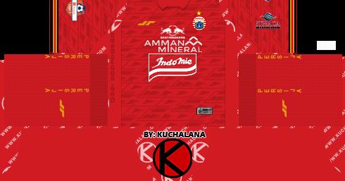 Persija Jakarta Kits 2020 - Dream League Soccer Kits - Kuchalana