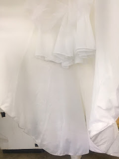 A second wedding dress after Shore's professional gown cleaning