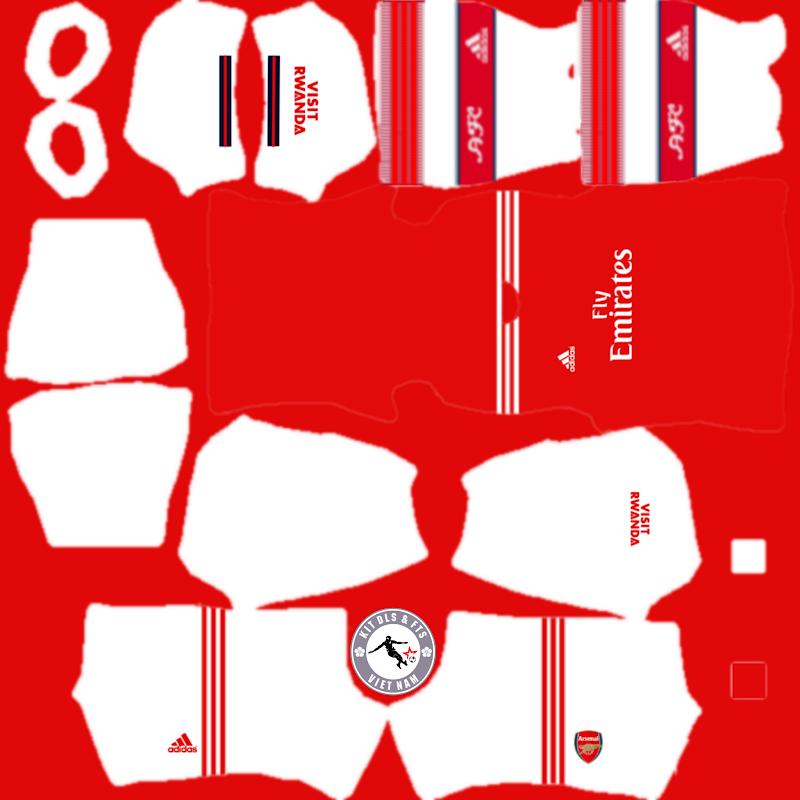 Kits CLB Arsenal 2019 - 2020 Dream League Soccer 2021