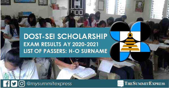 H-O Passers: DOST Scholarship Exam Result 2020