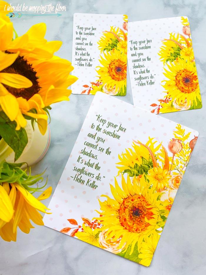 Yellow Sunflower Printables