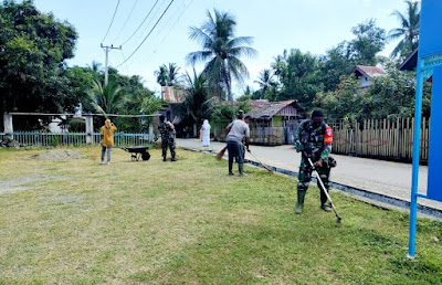 Lestarikan Lingkungan, Koramil 08/Kuta Baro dan Masyarakat Gotong Royong bersama