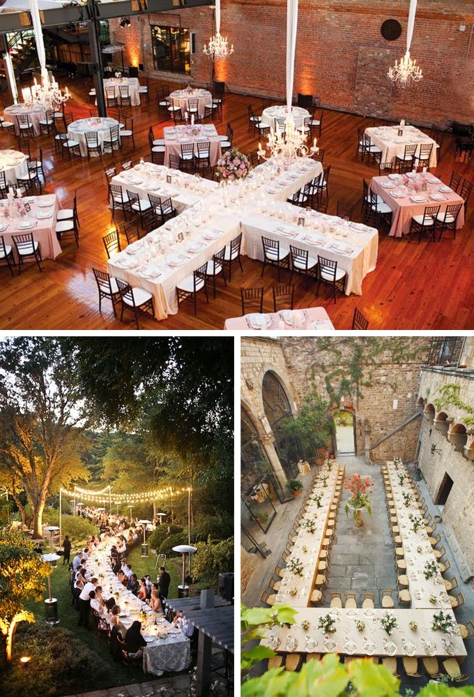 Family Style Head Table Wedding Decorations