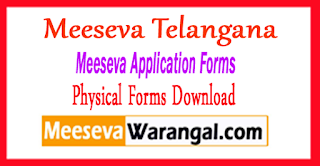 Meeseva Physical Forms Meeseva Application Forms Telangana Meeseva